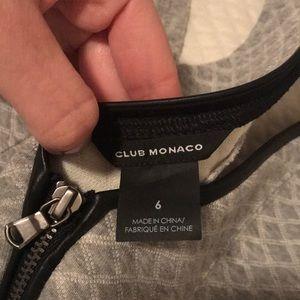 Club Monaco Dresses - Club Monaco grey quilted zip back dress